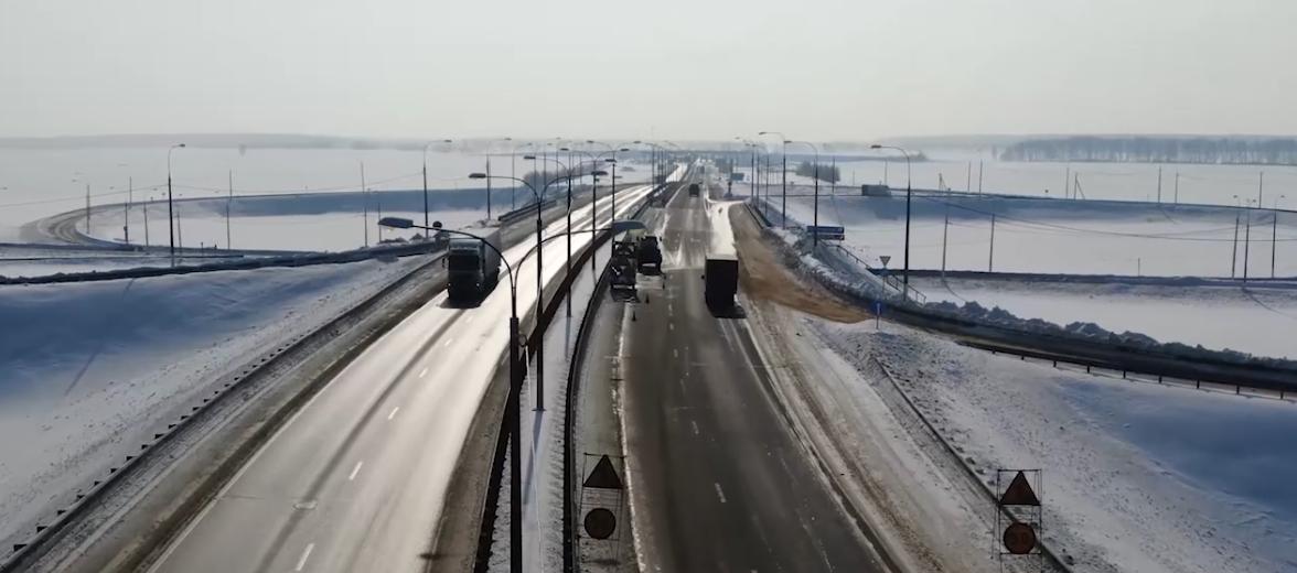 В Тульской области реконструируют участок федеральной трассы