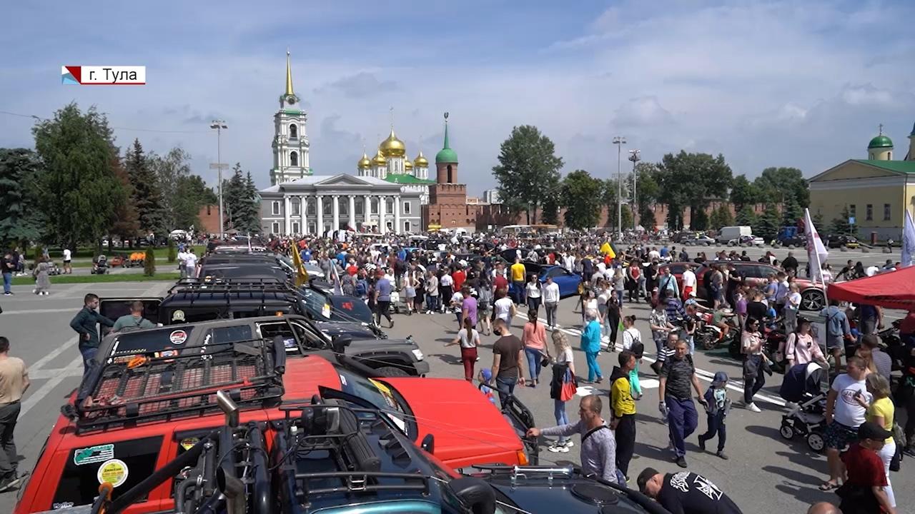 От велопробега до выставки машин и матчей ЕВРО-2020: как Тула отметила День России