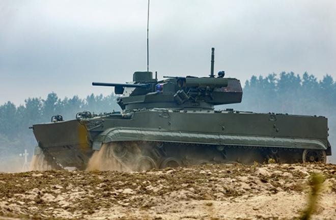 На учениях «Запад-2021» впервые показали новую БМП Б-19 с тульским модулем «Эпоха»