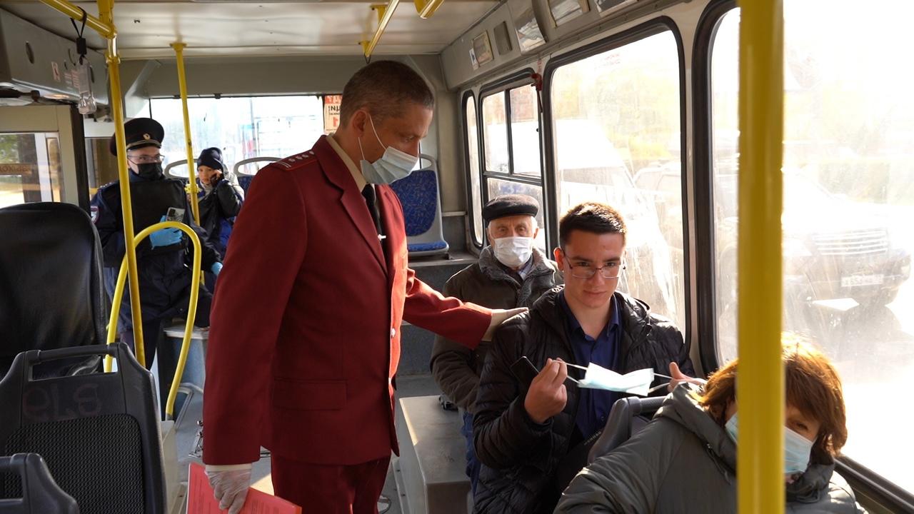 В тульском общественном транспорте прошел внеплановый масочный рейд