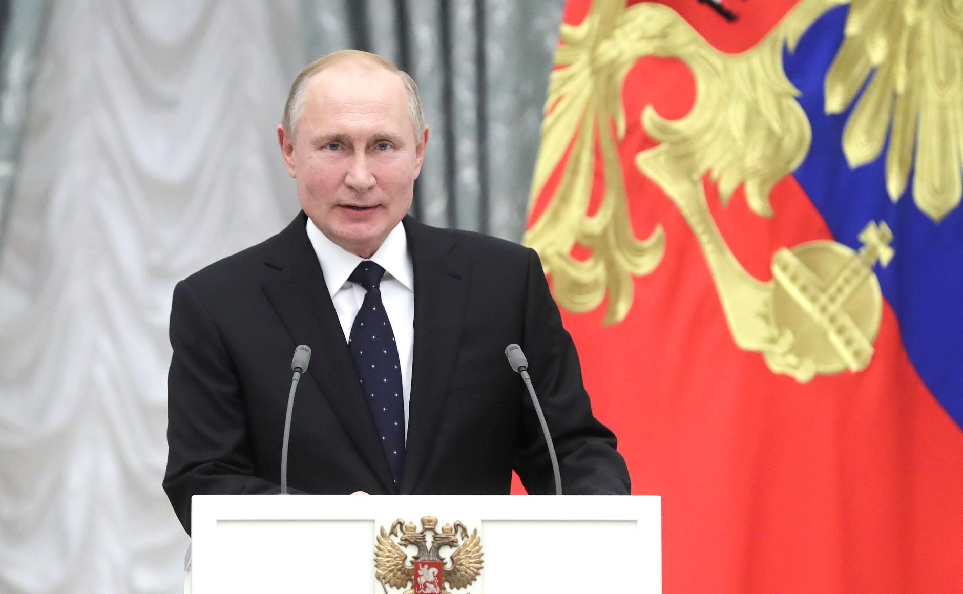 Президент России Владимир Путин отметил заслуги туляков