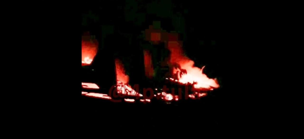 В Щекинском районе загорелсязаброшенный склад