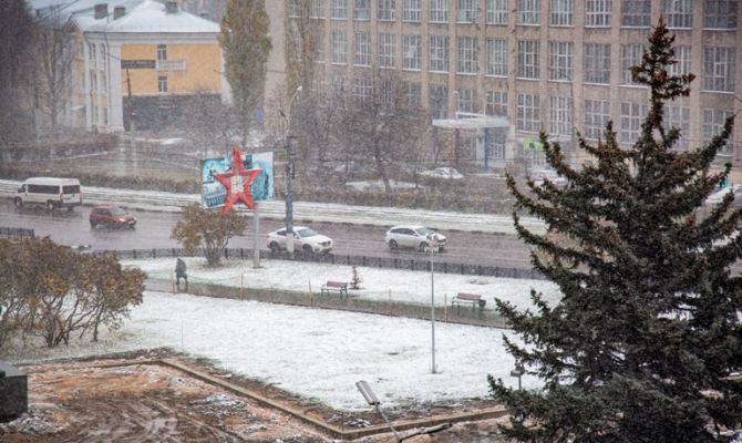 Сегодня в Туле будет дождь со снегом и гололед