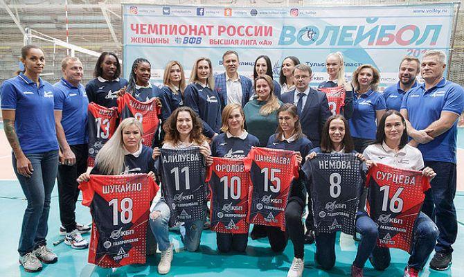 «Тулица» обыграла «Спарту» в Чемпионате России по волейболу