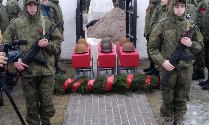 В Туле перезахоронили останки солдат