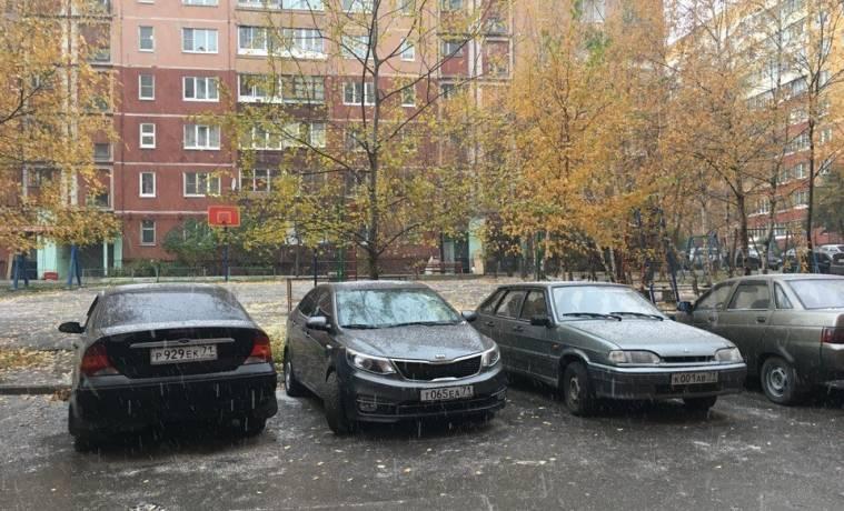 В Туле выпал первый снег